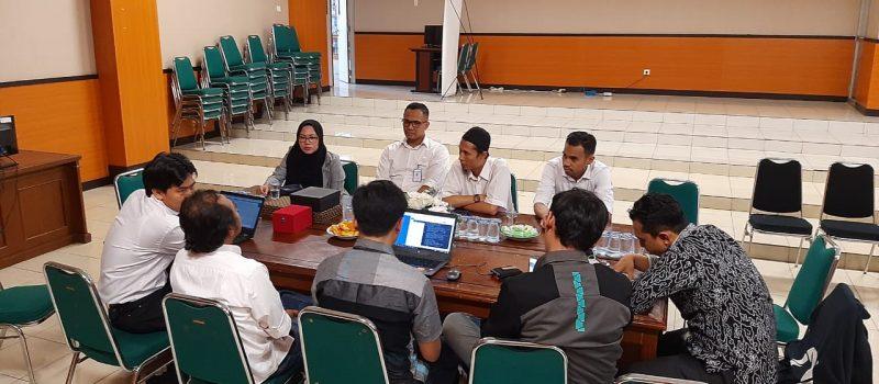 Diskusi pihak PTIPD UIN Sunan Gunung Djati Bandung dengan pihak BTN terkait sistem dan mekanisme pembayaran H2H