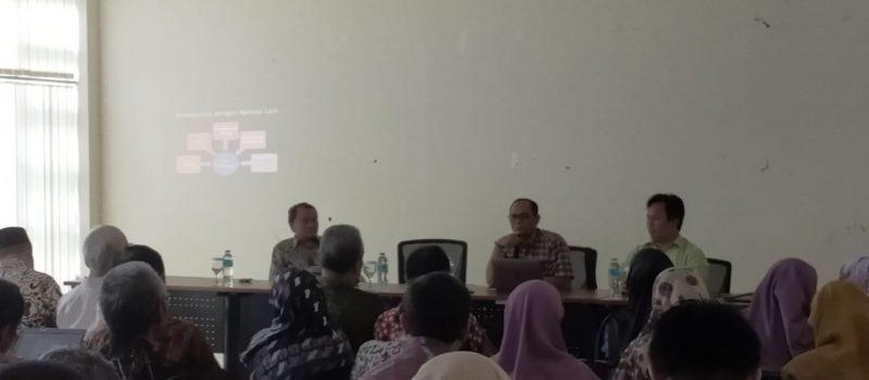 SPI (Satuan Pemeriksa Internal), PTIPD dan Bagian Kepegawaian Melakukan Sosialisasi Aplikasi Renumerasi pada Fakultas Adab dan Humaniora