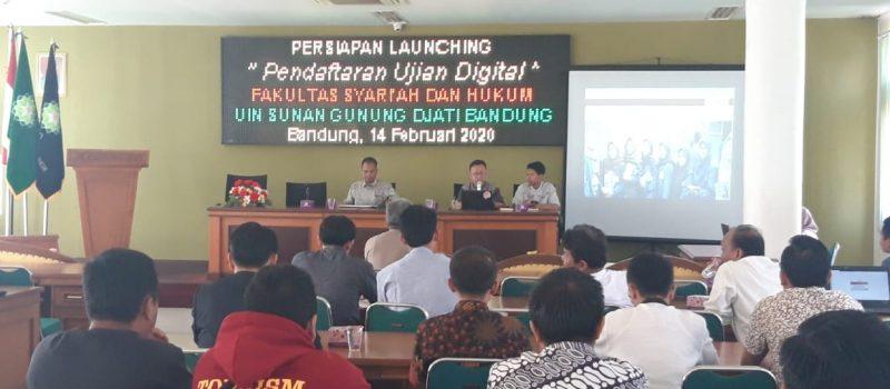Persiapan Launching Pendaftaran Ujian Digital Fakultas Syariah dan Hukum