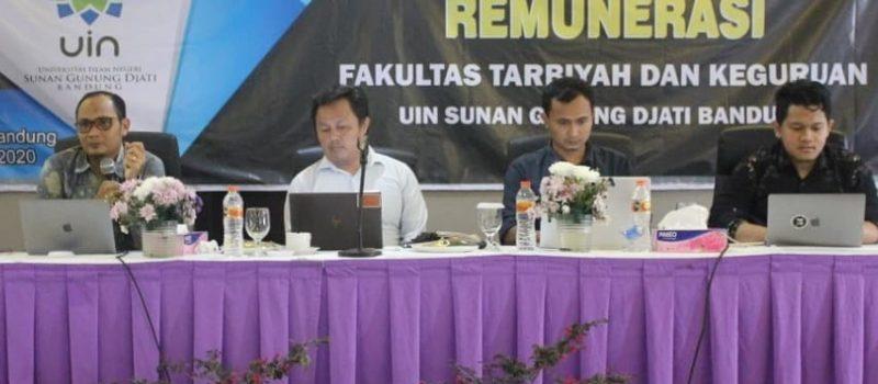 SPI (Satuan Pemeriksa Internal), PTIPD dan Kepegawaian Melakukan Sosialisasi Aplikasi Renumerasi pada FTK (Fakultas Tarbiyah dan Keguruan)