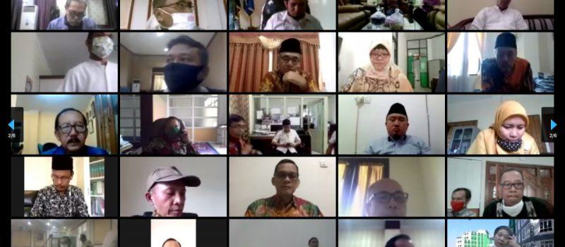 Rapat Daring Rektor/Ketua SPAN-UM PTKIN Mengenai Kelulusan SPAN-UM PTKIN