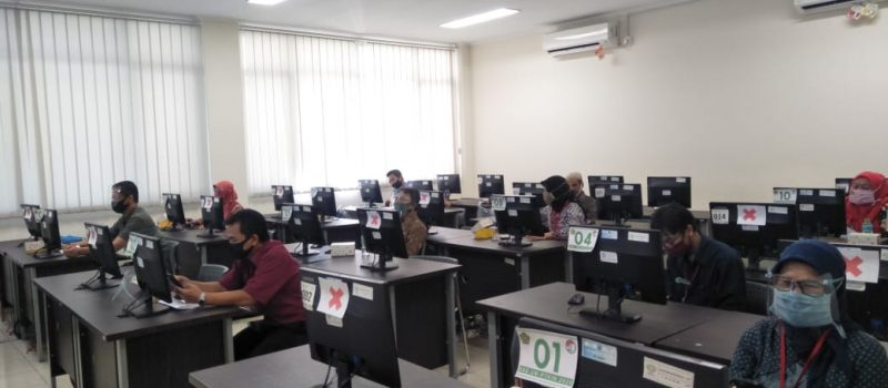 Pelaksanaan Ujian CBT Pascasarjana UIN SGD Bandung 2020/2021